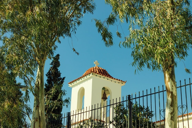 Little beautiful greek church Premium Photo