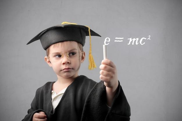 Little clever boy Premium Photo