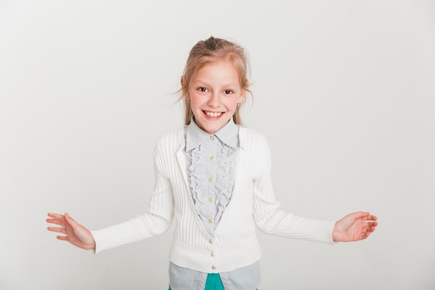 Little girl with open expression Free Photo
