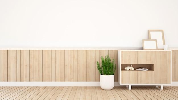 Living area in coffee shop or kid room- 3d rendering Premium Photo
