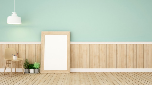 Living area in green room Premium Photo