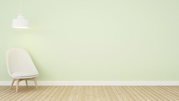 Living area green tone in apartment Premium Photo