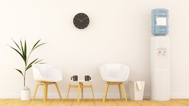 Living area or in office-3d rendering Premium Photo