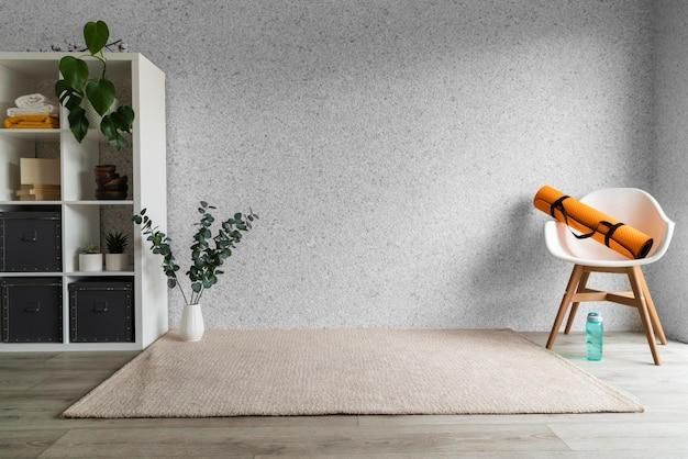 Обустройство гостиной ковриком для йоги Бесплатные Фотографии