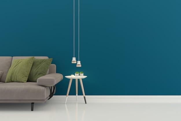 Living room interior house floor template background mock up design copy space Premium Photo