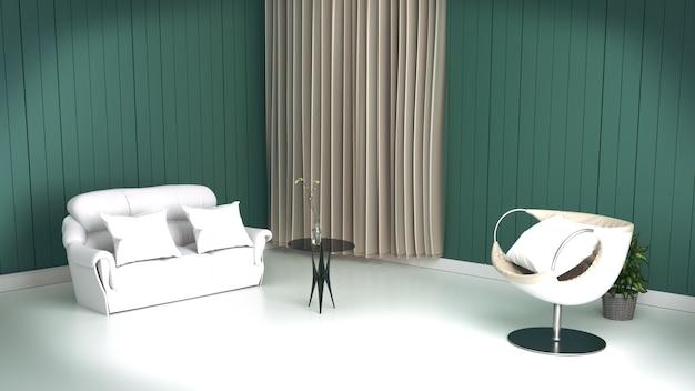 Terrific Living Room Interior With Sofa Pillows Table On Empty Machost Co Dining Chair Design Ideas Machostcouk