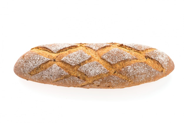 Loaf of bread on white background Free Photo
