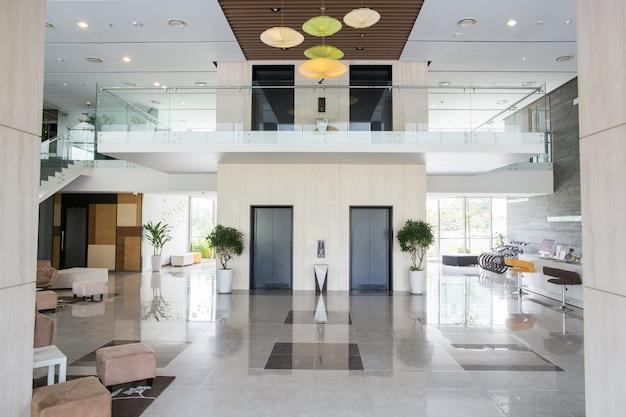 Lobby of condominium building Free Photo