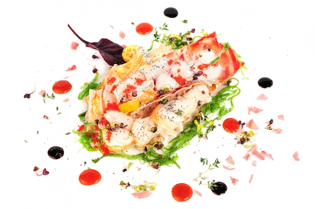 Lobster salad in japanese style Premium Photo