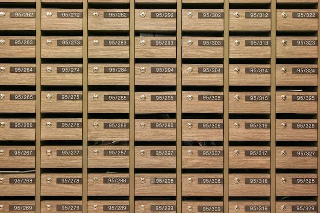 Locker mailboxes postal for keep your information, bills,postcard,mails etc, condominium mailbox regulations Premium Photo