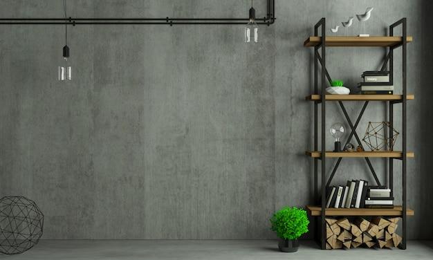 Loft interior background old wall Premium Photo