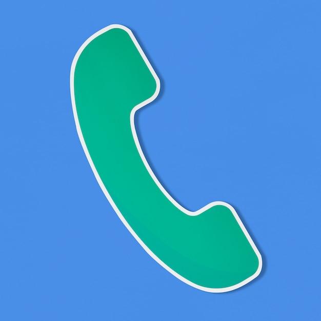 Logo di un'illustrazione vettoriale di telefono Foto Gratuite