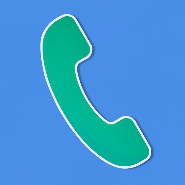 Logo of a telephone vector illustration Free Photo