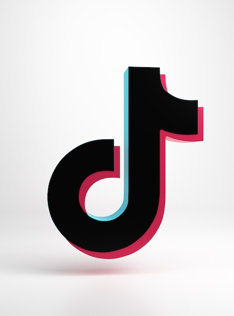 Premium Photo | Logo of the tik tok app minimal simple design