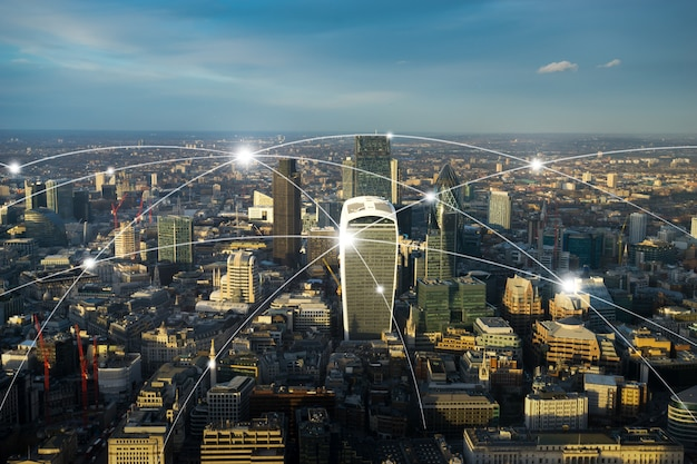 London office building for network and future concept Premium Photo
