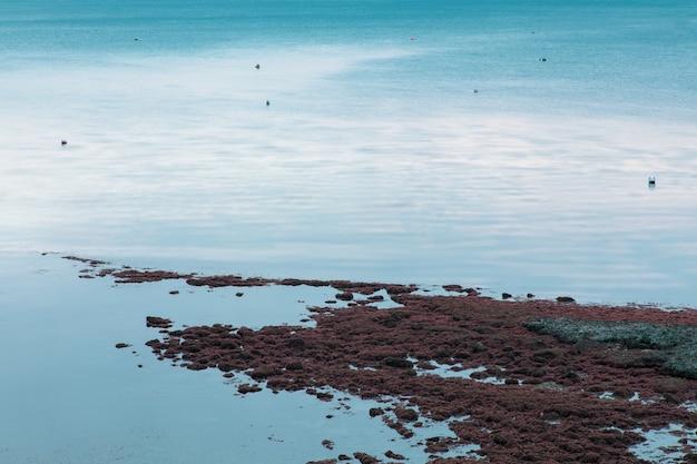 Weymouth, Dorset, Uk에서 바다 해안과 파도의 긴 노출 샷 무료 사진