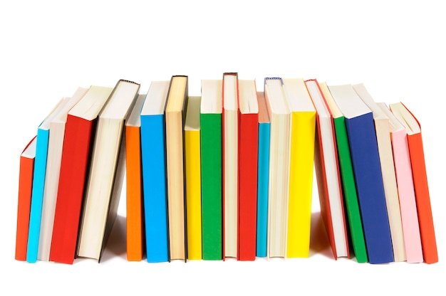Long row of colorful books Photo | Free Download