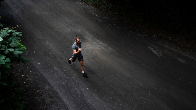 Long shot of man running Free Photo