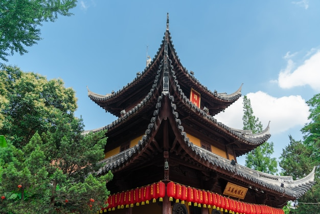 Longhua temple in shanghai, china. one of famous buddhist monastery in china Premium Photo