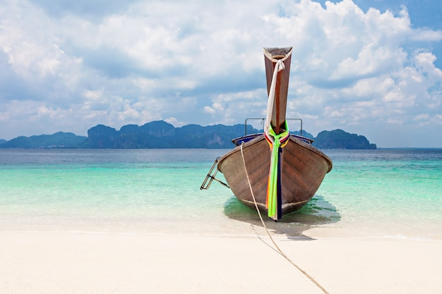 Longtail boats Premium Photo