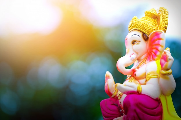 Lord ganesha ganesh festival Premium Photo