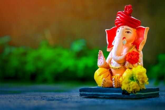 Lord ganesha , indian ganesh festival Premium Photo