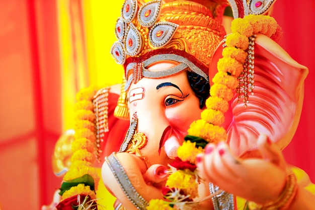 Lord ganesha , indian ganesh festival Premium Photo