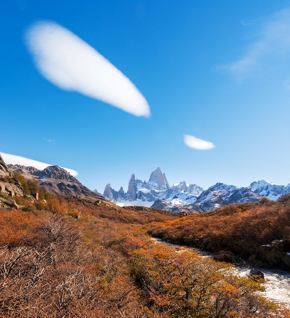 Los glaciares national park, santa cruz province, patagonia, argentina, fitz roy mount. Premium Photo