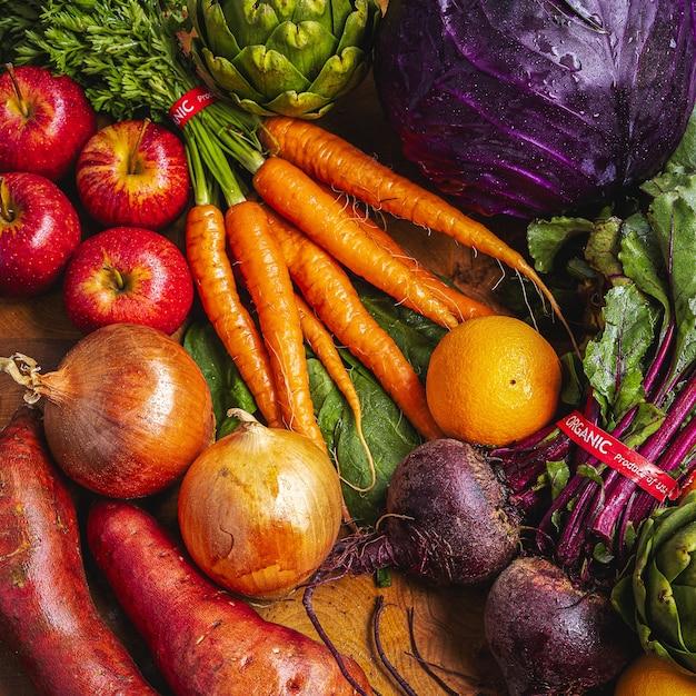 Много разных свежих овощей Бесплатные Фотографии