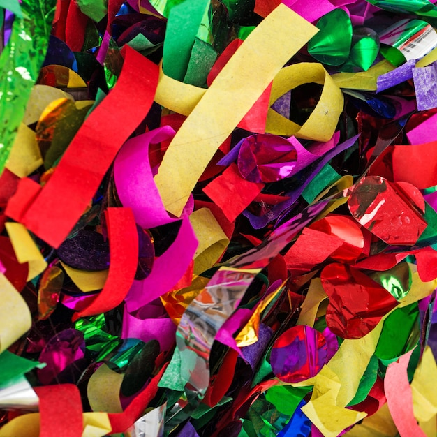 Lots of streamers and confetti Free Photo