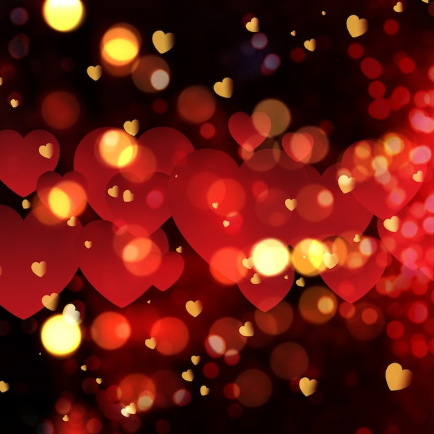 Love Effect Wallpaper : Love background with bokeh effect Photo Free Download