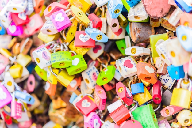 The love key ceremony at n seoul tower Free Photo