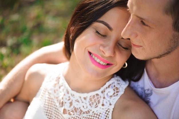 Love story, portrait of young couple Premium Photo
