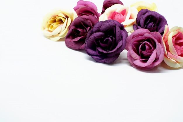 Love valentines day romantic background.  beautiful roses Premium Photo