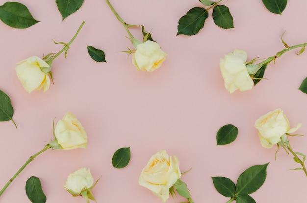 Lovely arrangement of white roses Free Photo
