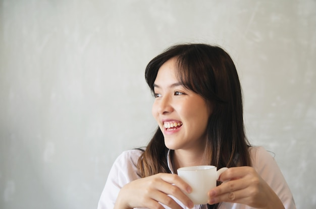 Lovely asian young lady portriat - happy woman lifestyle concept Free Photo