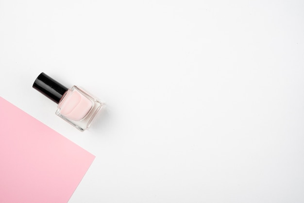 Lovely nail polish with copy space Free Photo