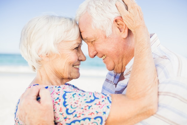 Lovely senior couple looking at each other Premium Photo