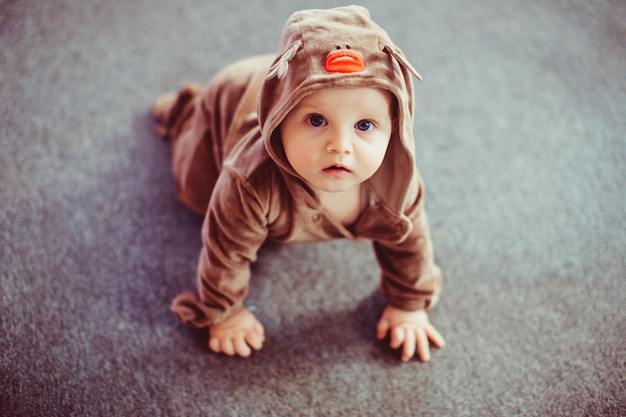 Lovely And Very Cute Baby Dressed Deer Photo Free Download