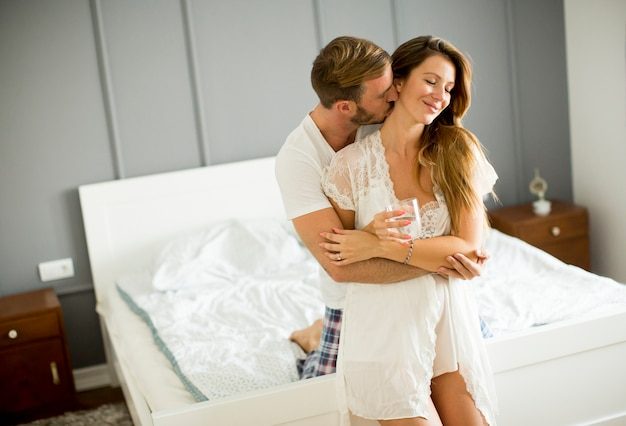 Image result for couple in bed and in love