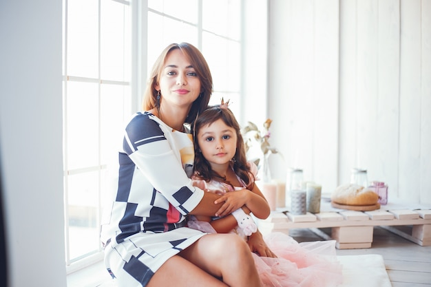 Loving mother with her daughter Free Photo