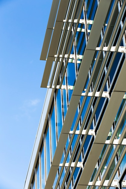 Low angle building modern design Free Photo