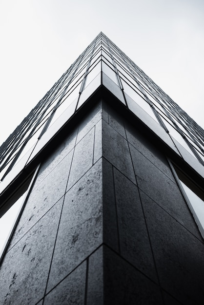 Low angle corner of modern building Free Photo