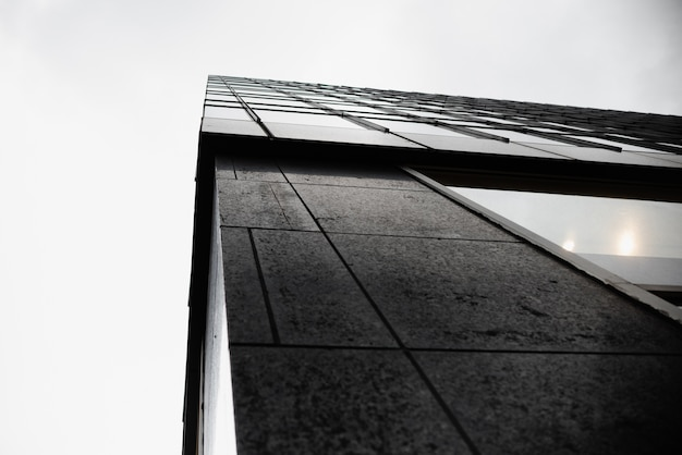 Low angle edge of modern building Free Photo
