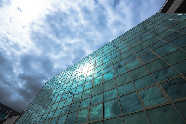 Low angle view of skyscraper Free Photo