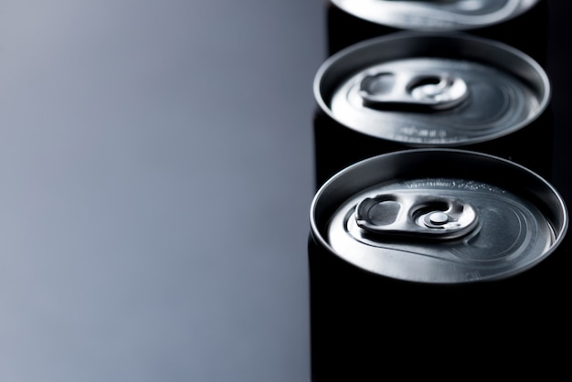 Low key or dark abstract canned background Premium Photo