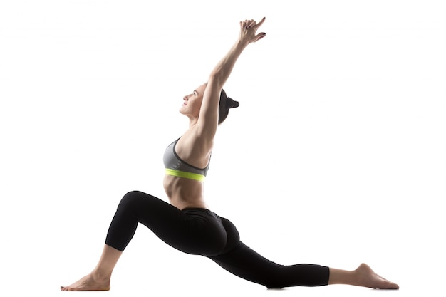 Low lunge exercise Free Photo