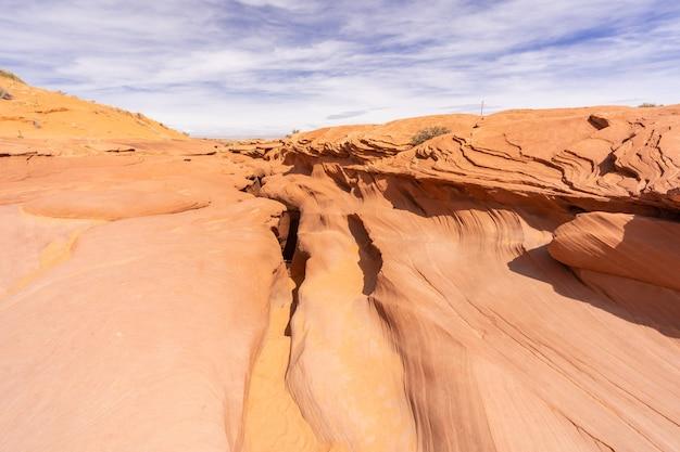 Above lower antelope canyon Premium Photo