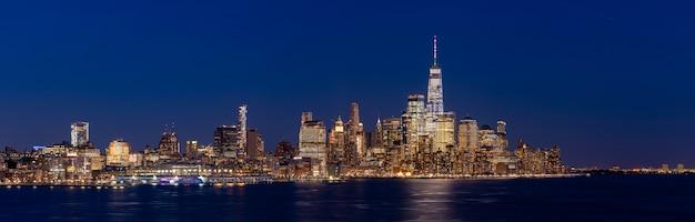 Lower manhattan new york panorama Premium Photo