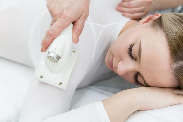Lpg massage of hands and shoulders. Premium Photo